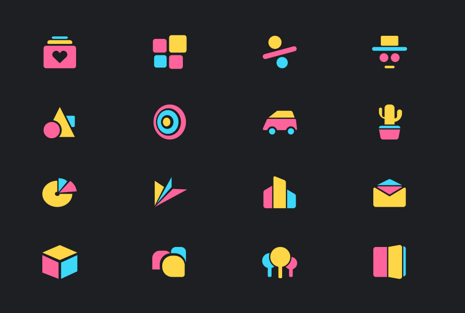 16 Abstract Geometric Icons