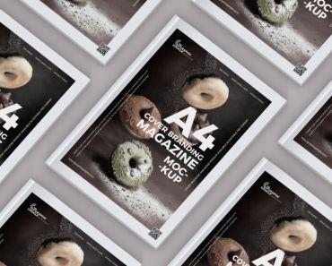 A4 Size Cover Branding Magazine Mockup