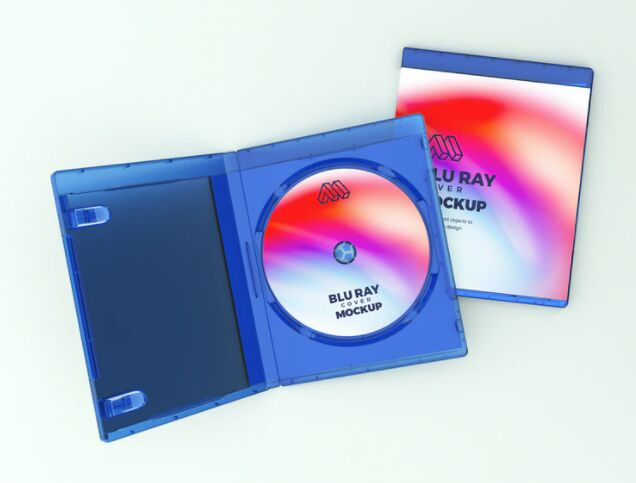 Blue Ray Cover PSD Mockup