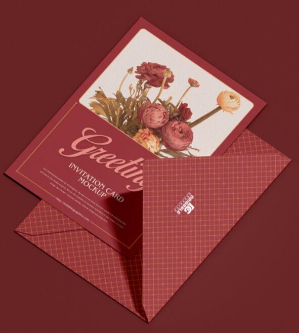 Free 5×7 Greeting Invitation Card Mockup