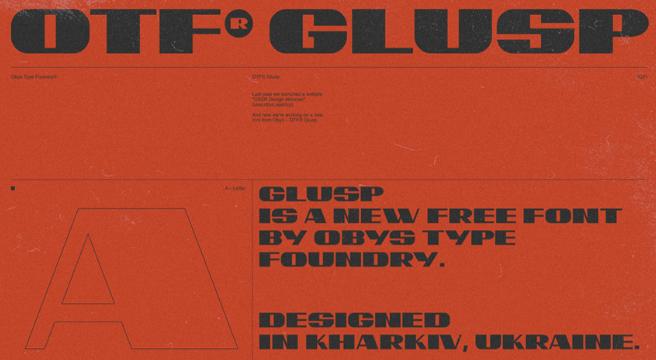 OTF GLUSP Free Font