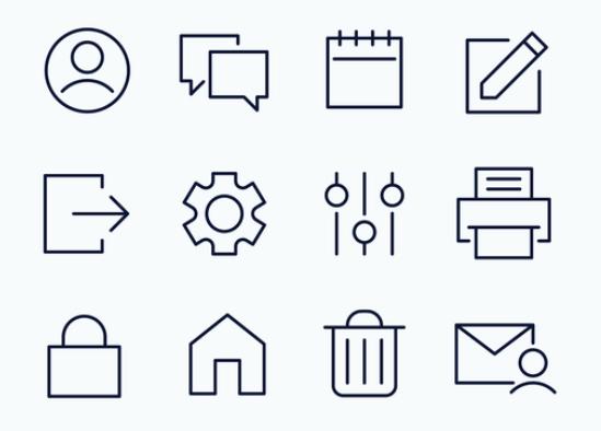 12 SVG UI Icons