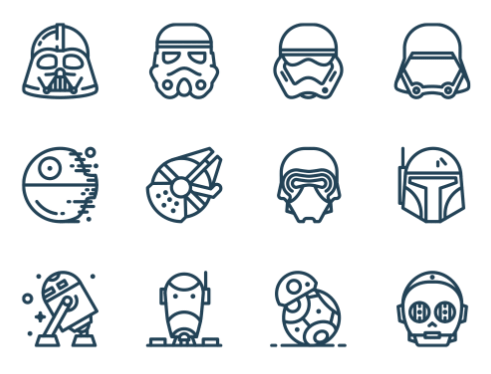 13 Star Wars Vector Icons