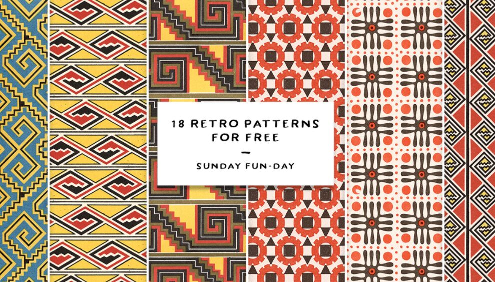 18 Free Retro Patterns