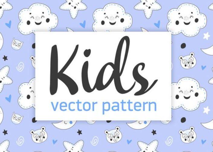 Free Kids Vector Pattern