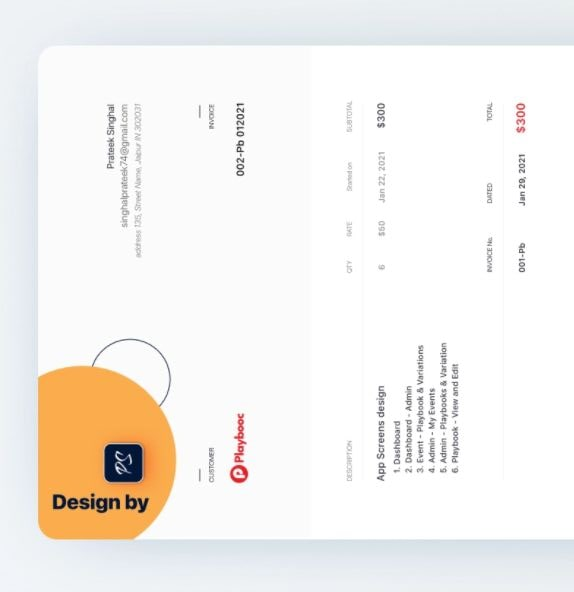 Modern and Chic Design Invoice