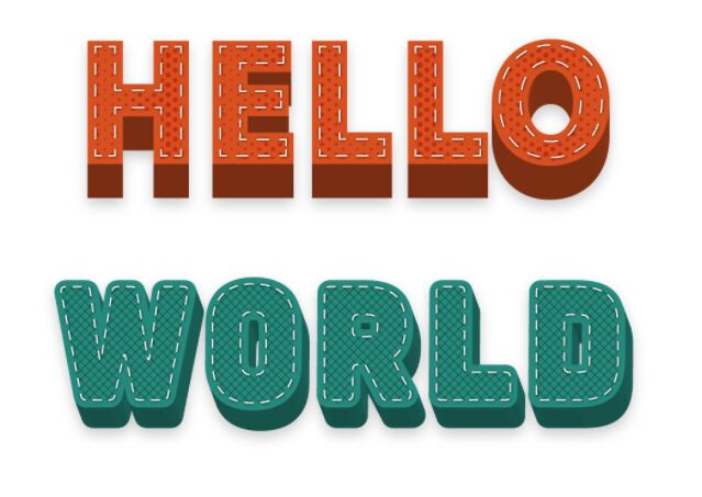 10 Free Illustrator 3D Stitched Text Effect Styles