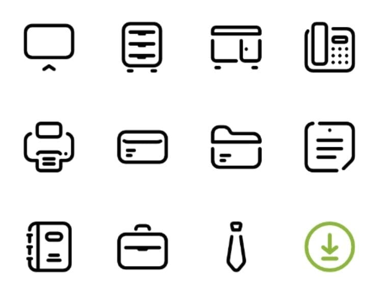 20 Vector Office Icons