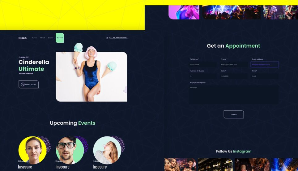 Disco Website Template