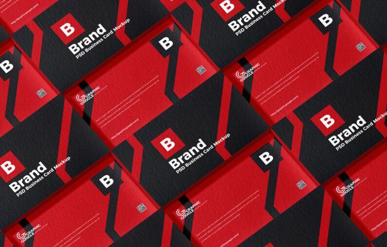 Free Brand PSD Business Card Mockup