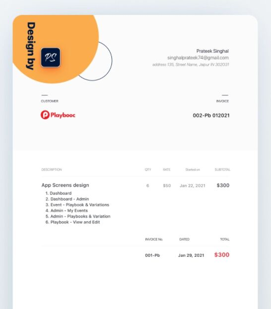 Modern and Chic Design Invoice Template