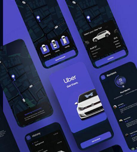Uber App Free XD Template