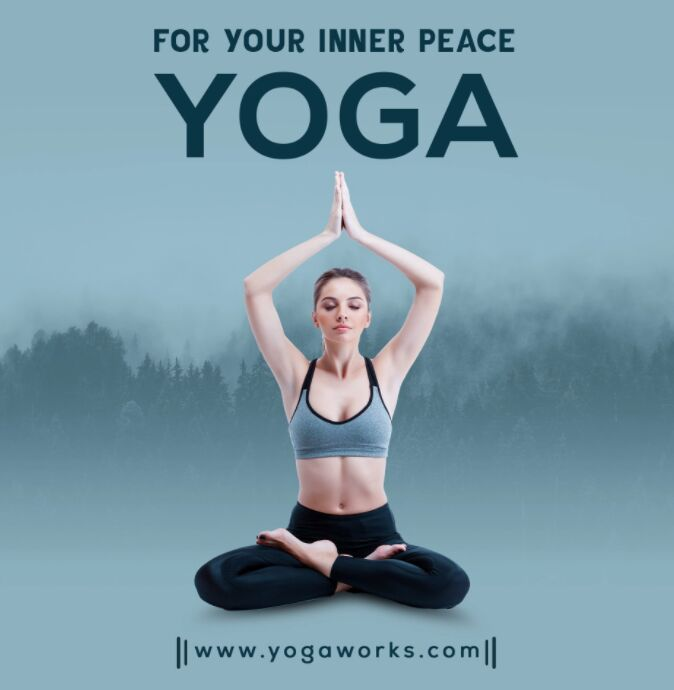 Yoga and Meditation Social Media Banner and Post