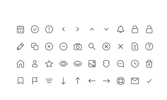 40 Figma Stroke Icons