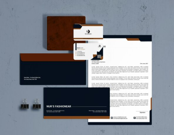Corporate Stationery Set Free Download