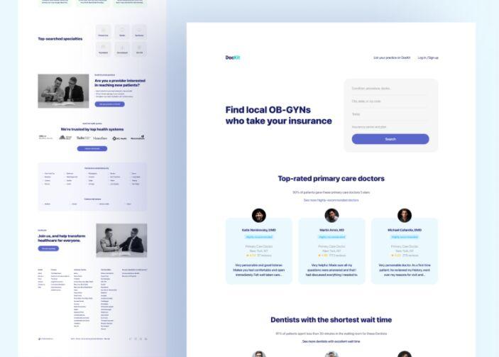 Landing Page Design for Medical Doctors