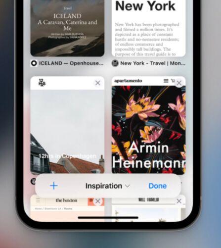 Safari iOS 15 UI