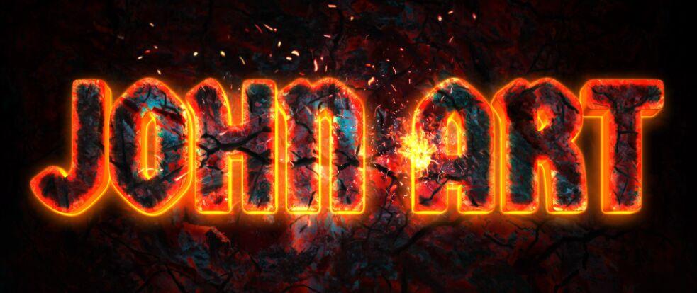 Fire Effect Text PSD
