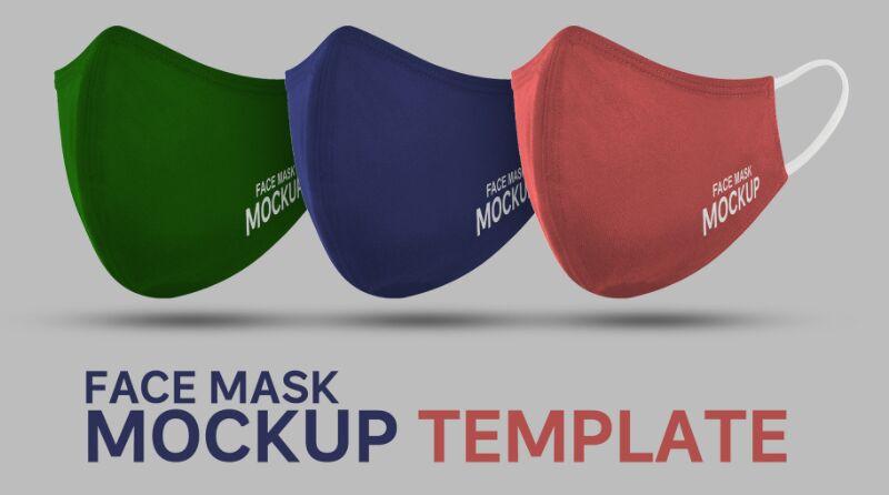Free Face Mask Mockup PSD