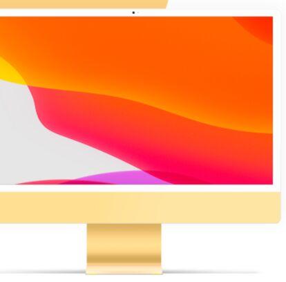 iMac 24 Mockup Free PSD
