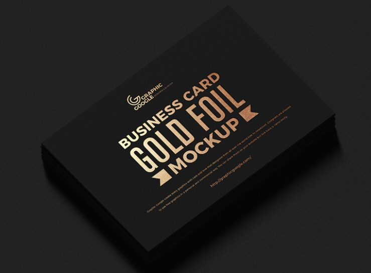 Free Gold Foil Business Card Mockup PSD Vol 3