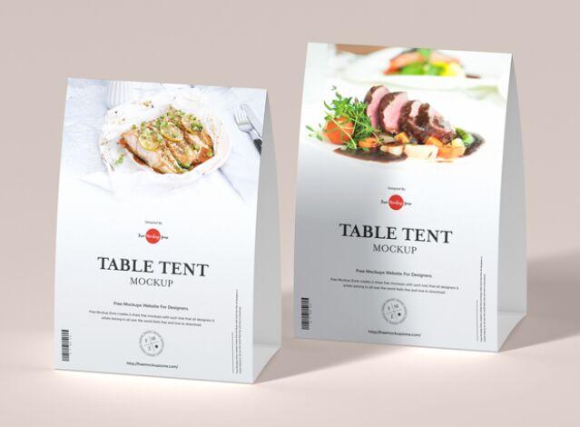 Free Modern Table Tent Mockup