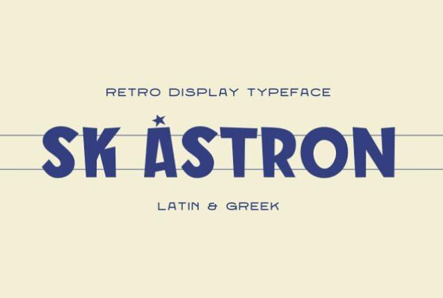SK Astron - Free Greek Font
