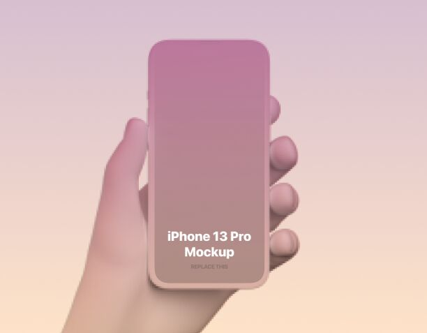 Colorful & Clay iPhone 13 Pro Mockup