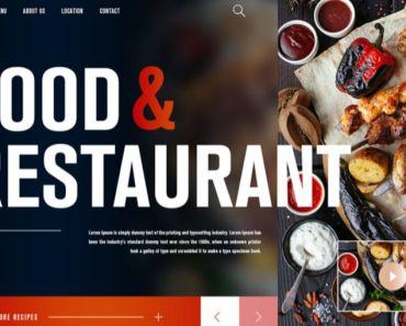 Free Food & Restaurant Landing Page Design Template