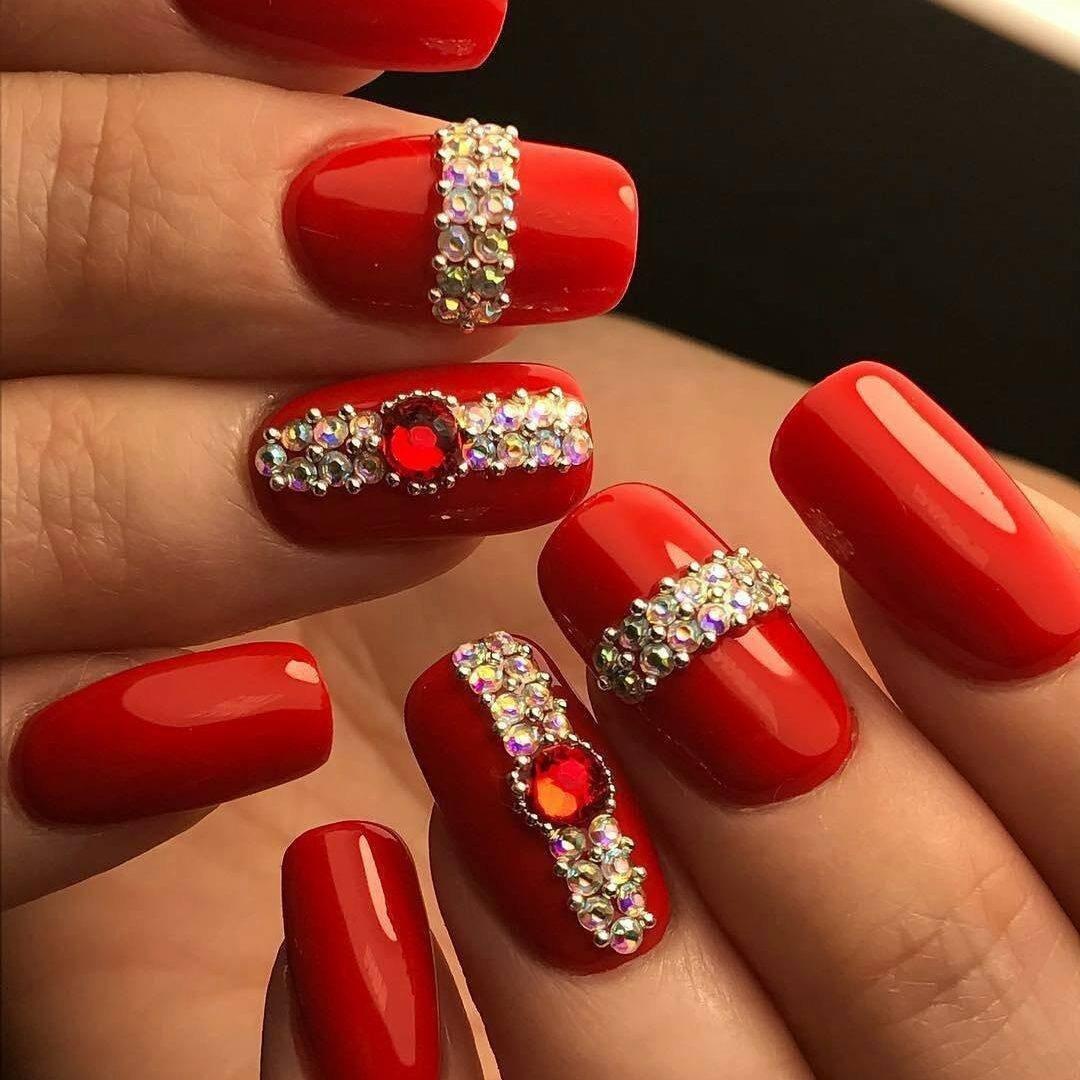 красные ногти дизайн 2019 фото 6