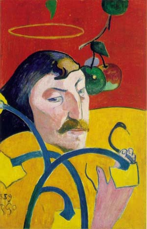 "Paul Gauguin's ""Self Portrait with Halo"" (1889)"