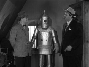 "Still from ""The Runaway Robot"" from ""The Adventures of Superman"""