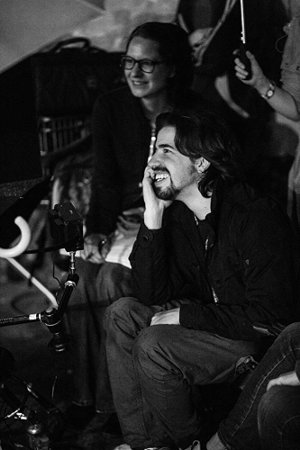 "Adolfo J. Kolmerer on the set of ""Snowflake"""