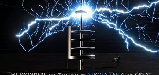 What caused Nikola Tesla's 1895 lab fire?