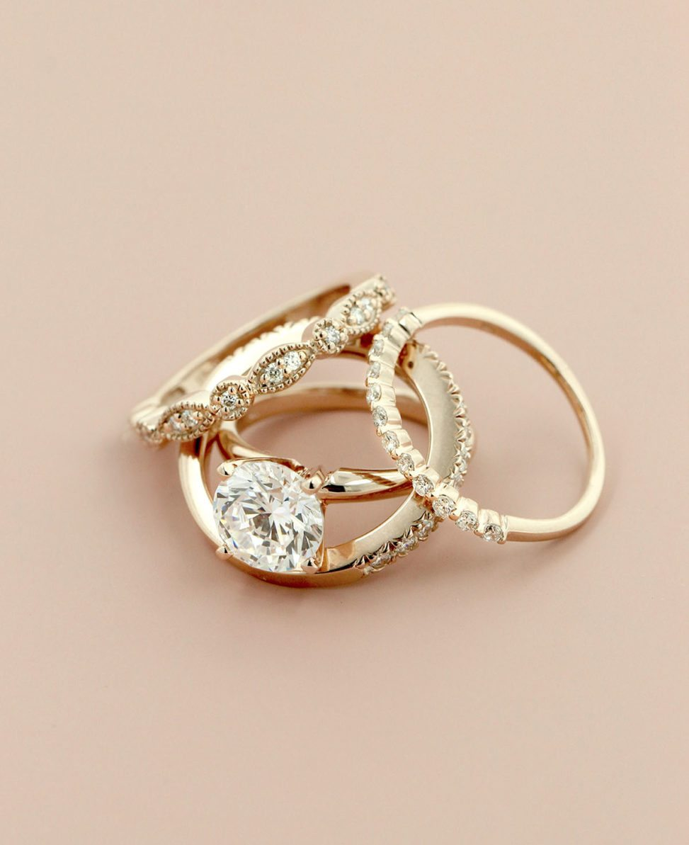 28 Double Band Engagement Rings for Two Times the FUn