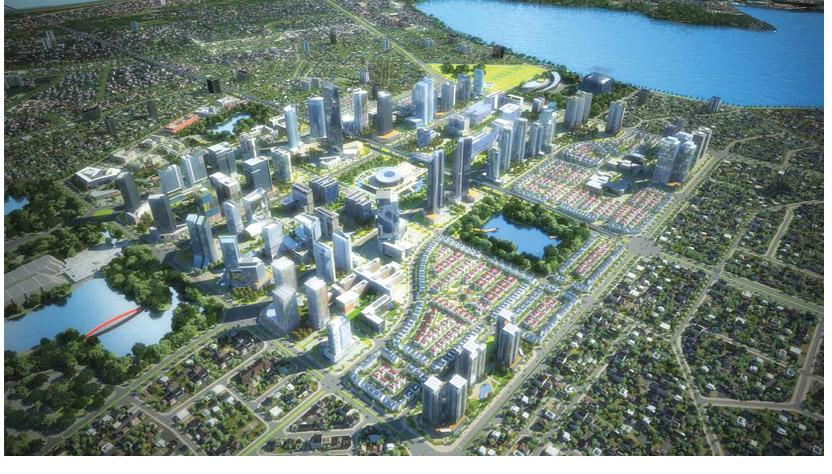 Phối cảnh dự án khu đô thị trung tâm Tây Hồ Tây
