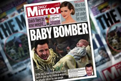 Baby Bomber (Daily Mirror front page)