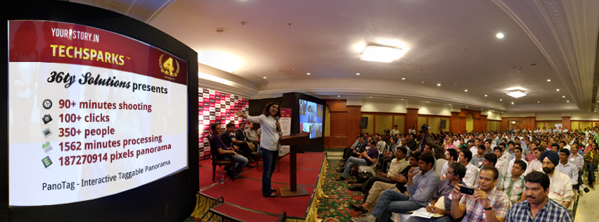 TechSparks 2013 facebook taggable panorama