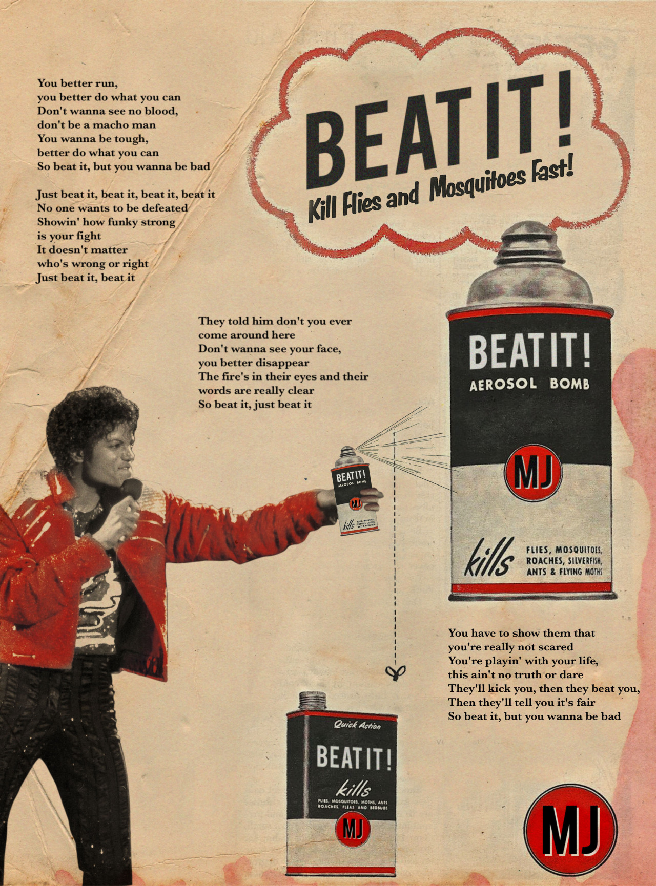 Beat it / Michael Jackson © Ads Libitum : facebook / tumblr / behance