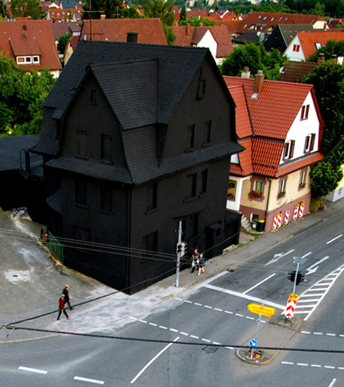 wakaflackalypse:</p> <p>Do you want the black house<br /> or the colorful one?<br /> Does the answer depend upon<br /> your personality?<br /> I might have a dark personality<br /> but I'd rather have the colorful house.</p> <p>