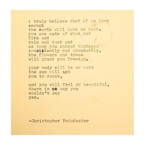 The  Universe and Her and I #251 written by Christopher Poindexter. This poem is inspired by the positivity of @fillthe_soul 's page. Check her out sweet ones!