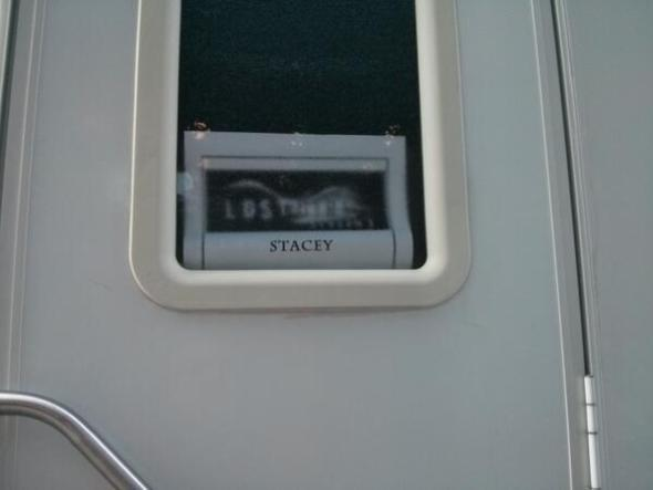 Stacey's trailer on location