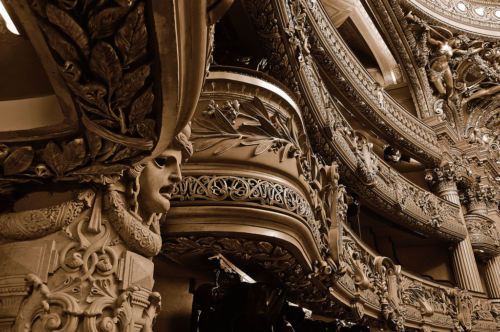 statues-and-monuments: statues-and-monumentsParis Opera House by Michael Maniezzo  Paris, France Even when it's deserted,  you could still hear the music and the sounds being played. Close your eyes and imagine.