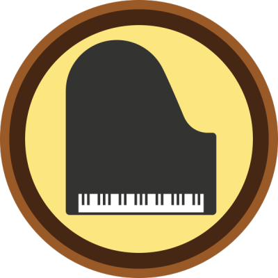 Lifescouts: Piano Badge<br /> If you have this badge, reblog it and share your story! Look through the notes to read other people's stories.<br /> Click here to buy this badge physically (ships worldwide).<br /> Lifescouts is a badge-collecting community of people who share their real-world experiences.