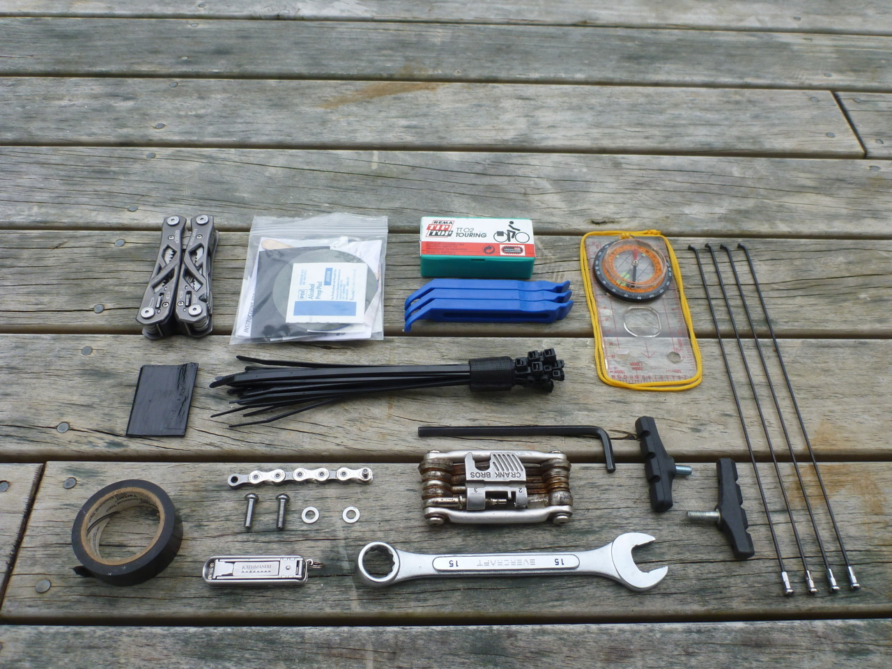 bike tools organized from things organized neatly