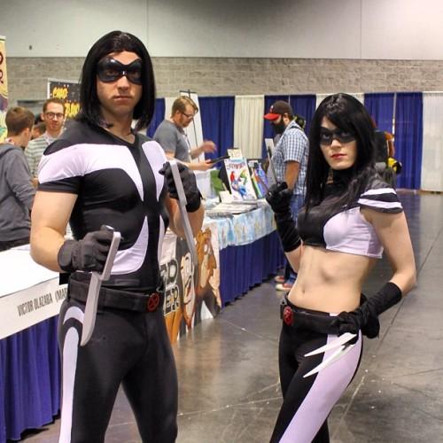 Warpath and X-23. #wondercon #marvel #cosplay #x23 #warpath #xmen #xforce (Taken with Instagram at Anaheim Convention Center)