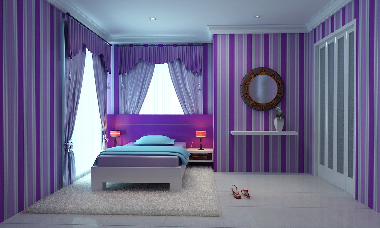 Ambience-consultant • CUTE PINK AND PURPLE GIRLS' BEDROOMS
