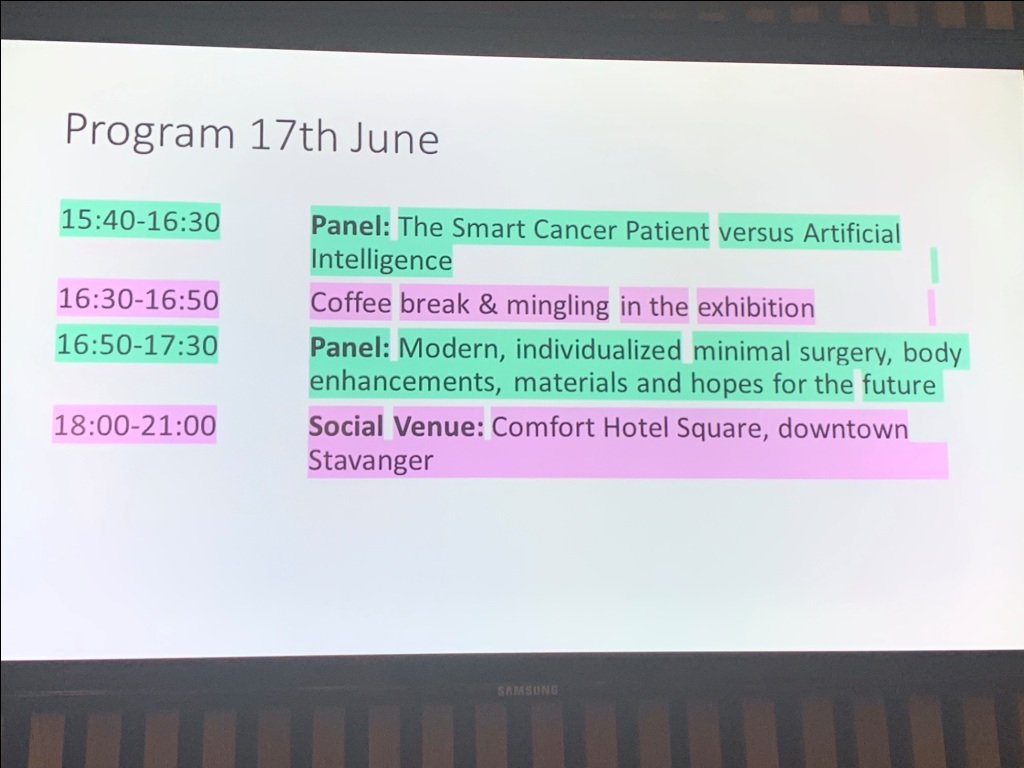 37 °C Health Tech 17-18 JUN 19 program