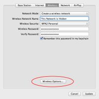 AirPort Utility: Create hidden network