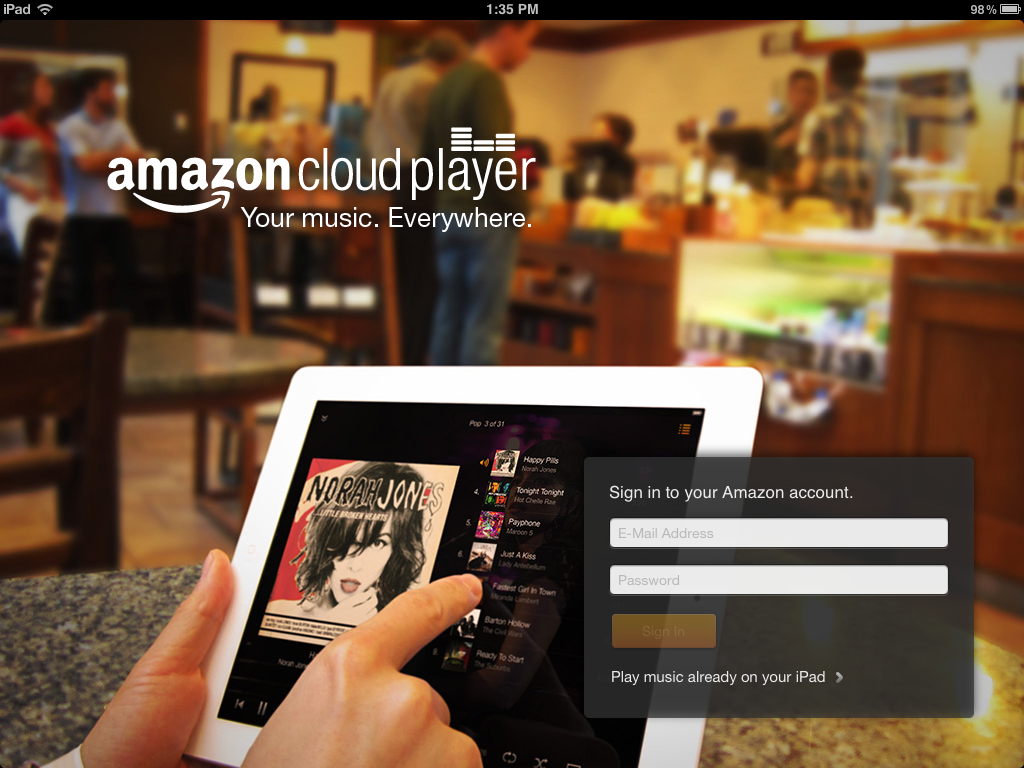 Amazon Cloud Player on iPad